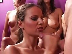 Examine hot gang bang act with very hot girls