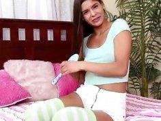 Latina Teen in Braces Handjob Compilation