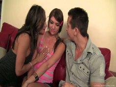 Experienced Claudia Valentine offers Cassandra Nix to Talon for a hot threesome fuck