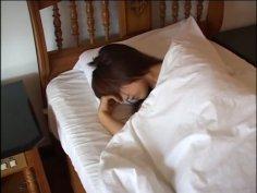 Young japanese chick Yuka Motohashi gets a sensual massage outdoors