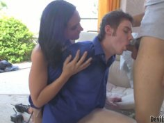 One girl enjoys her  bisexual fuck buddy  who sucks cock