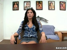 Skinny Jordana Heat strips and masturbates on a table