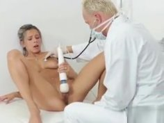 Deviant Doctor Uses Vibrator On Sexy Slut