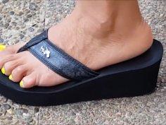 My beautiful Latina friend cute sexy feet. (I pray for her feet like a man)