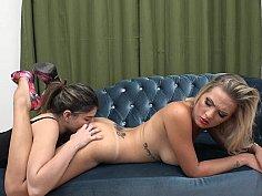 Top girl Bella's first ass worship