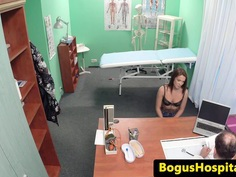 Hospital spycam fucking with young eurobabe