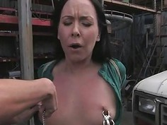 Doxy acquires a rough group spanking for her twat