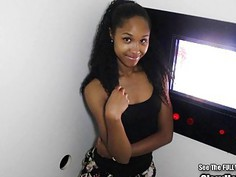 Small Tits Black Beauty Blowjobs in Glory Hole