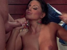 Horny milf slut Mikayla Mendez fucks two young guys