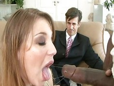 Husband love to watch his wife how she suck black
