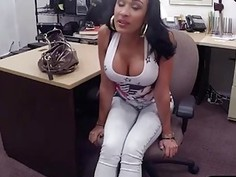 Big boobs latina pawns her twat and banged by pawn dude