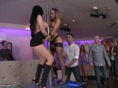 Aletta Ocean and Aleska Diamond hot strip dances
