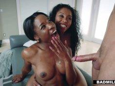 Jungle fever with hot ebony babes Jasmyne and Mya