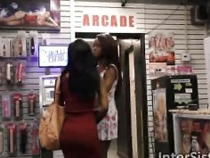 Jezabel And Sarah Blowing White Cock In Glory Hole